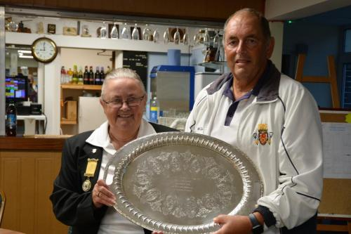 Saltash captain receives runners up trophy from Jennie Dyer
